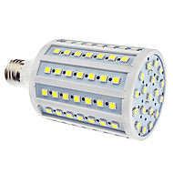 E27 18W 102x5050SMD 1500-1600LM 6000-6500K Natural White Light LED Corn Bulb (110/220V)