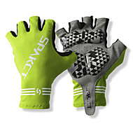 SPAKCT S13G03 pevného polyesteru a Vinylal materiály Half Finger Gloves Design for Cyklistika Půjčovna-zelená