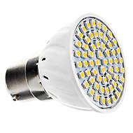 5W B22 תאורת ספוט לד 60 SMD 3528 240 lm לבן חם AC 220-240 V