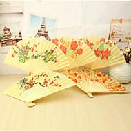 Vakre blomster Bamboo Hånd Fan - sett med 4 (Mixed Floral Pattern)