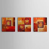 Ručně malované AbstraktníStyl Tři panely Plátno Hang-malované olejomalba For Home dekorace