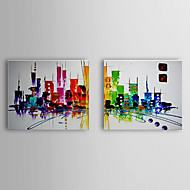 Hand-Painted Abstract / Abstract Landscape Two Panels Canvas Oil Painting For Home Decoration