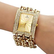 Men's Diamante Dial Analog Quartz Gold Steel Band Bracelet Watch (Assorted Colors) Cool Watches Unique Watches