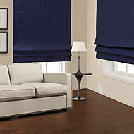 Traditional Dark Blue Blackout Roman Shade