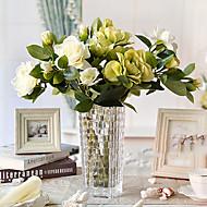 "17""H Classic Gardenia In Glass Vase Arrangement"