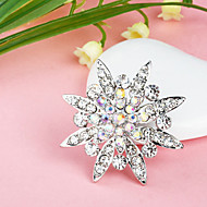 Women's  Colorful Snowflake Silver Plated Brooch(Random Color)
