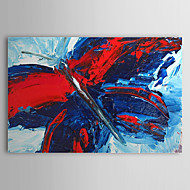 Kézzel festett Absztrakt Egy elem Vászon Hang festett olajfestmény For lakberendezési