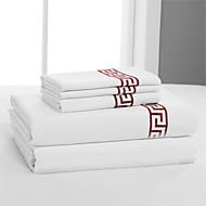 jednoduchý&opulence® plochý list, 400 tc 100% bavlna pevný bílý