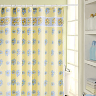 Orchid Pattern Waterproof Reinforced Polyester Shower Curtain