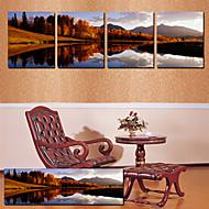 Stretched Canvas Art Landscape Distant Mountain Set of 4