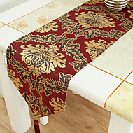 Oro ricamo Brocade Red Runner