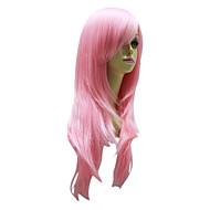 rose perruque de longs cheveux raides pour la perruque de fête