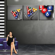 Stretched Canvas Art Still Life Bowling Ball Set of 3
