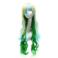 Sexy Party Wig Mixed väri pitkä aaltoileva Party Peruukit