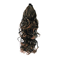 Dark Brown Synthetic Wavy Ponytail