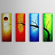 Pintados à mão Paisagem 4 Painéis Tela Pintura a Óleo For Decoração para casa