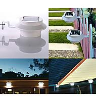 3 Led solaire Clôture Gutter lumière extérieure de yard de jardin mur Pathway Lamp (cis-57155)