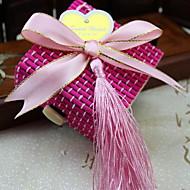 Wooden Pralinenschachtel mit Band bowknot Quasten und von 50-Set (weitere Farben)