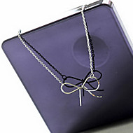 Classic fashion simple bow necklace N549