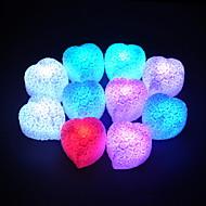 Kleurrijke LED knippert Heart Cut Rose Lamp-set van 4