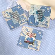 Mignon bébé ours Coaster (bleu bébé)