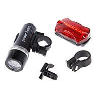 Lanternas LED / Luz Frontal para Bicicleta / Luz Traseira Para Bicicleta LED Ciclismo Prova-de-Água / alarme AAA 100 Lumens Bateria