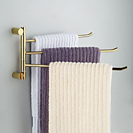 Towel Bar Ti-PVD Wall Mounted 40.2*3.5*20cm(15.8*1.4*7.9inch) Brass Contemporary