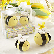 Mommy and Me Sweet as Can Bee Keramisk Honeybee Salt og peber Shakers
