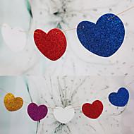 bryllupet innredning hengende skinner papirhjerte banner (sett av 15) - (flere farger)
