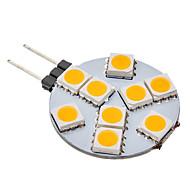daiwl g4 1,5 w 9x5050smd 70-100lm 3000K teplé bílé světlo LED žárovka s míčem (12V)
