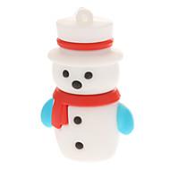 Plastové Malý vánoční sněhulák Model USB 4GB