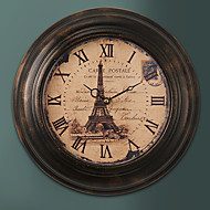 "13.5""H Retro French Metal Wall Clock"