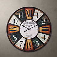 "H24"" Country Style Metal Square Wall Clock"