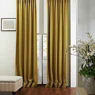 Two Panels  Modern Solid  Eco friendly Curtain
