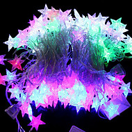 20-LED 4M Waterproof EU Plug Outdoor Christmas Holiday Decoration Sea Star Shape RGB Light LED String Light (220V)
