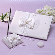 Elfenbein Hochzeit Gästebuch und Stift mit Perlmutt Akzente gesetzt loggen Sie sich ein Buch