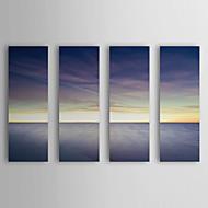 Stretched Canvas Art Landscape Vanilla Sky by SD Smart Set of 4