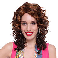Capless High Quality Synthetic Long Wavy Brown Hair Wigs