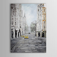 Håndmalte oljemaleri Landscape Europa Street med strukket Frame 1310-LS1056