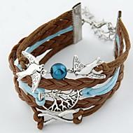 Men's/Unisex/Women's Charm Bracelet Alloy/Leather
