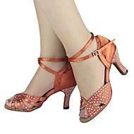 Customized Women's Satin Upper Dance Shoes