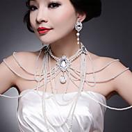 Ensemble de bijoux Imitation de perle/Stras Alliage Femme