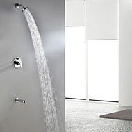 Sprinkle® Contemporary Chrome Finish Wall Mount Rainfall Shower Faucet