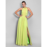 TS Couture® Formal Evening / Prom / Military Ball Dress - Lime Green Plus Sizes / Petite Sheath/Column High Neck Floor-length Chiffon