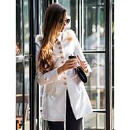 TS Fur Decor Wave Front Tweed Coat