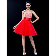 Homecoming Cocktail Party/Homecoming/Prom/Holiday Dress - Ruby Plus Sizes A-line Scoop Short/Mini Tulle