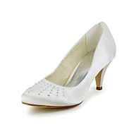 Women's Wedding Shoes Heels/Slide Heels Wedding Black/Blue/Pink/Purple/Red/Ivory/White/Silver/Gold/Champagne