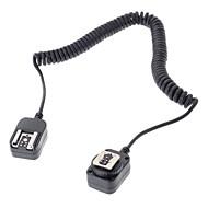 Flashgun Flashlight 580EX 430EX Connection Cable for Canon EOS 7D 6D 5D III 70D 60D 700D 650D DSLR Camera - Black (360cm)