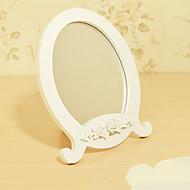 """9.5 """"květ design White Stručný Stolní zrcadlo"""