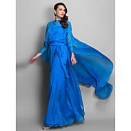 TS Couture® Formal Evening / Military Ball Dress - Elegant Plus Size / Petite Sheath / Column Scoop / Spaghetti Straps Floor-length Chiffon with
